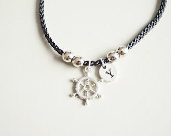 Ship Wheel Bracelet, Nautical Bracelet, Ocean Bracelet, Ship Bracelet, Best friend Gift, Handmade Gift, Friendship Charm, BFF, Sailor, Sea