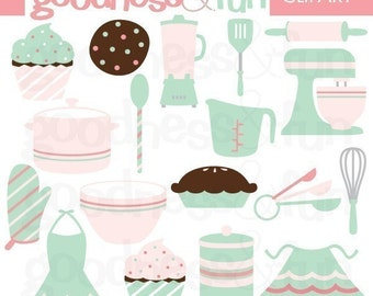 Buy 2, Get 1 FREE - Miss Baker Baking Clipart - Digital Baking & Kitchen Clipart - Instant Download