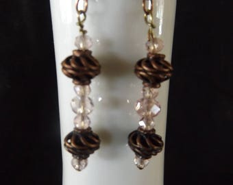 Bronze Spiral Ohrringe