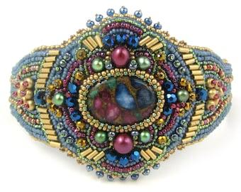 Medallion Bead Embroidery Bracelet Kit by Ann Benson