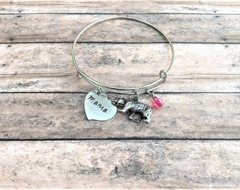 Mama Bear Bracelet - Gift for Mom - Mom Jewelry - Charm Bracelet- Mama Bear Jewelry - Gift for Her - Bear Bracelet - Hand stamped Jewelry