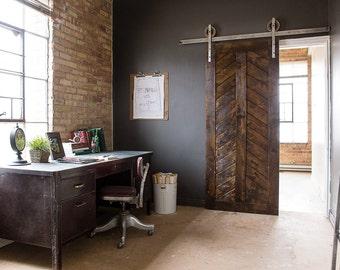 Rustic Industrial European Sliding Steel Barn Wood Door Closet Hardware  Track