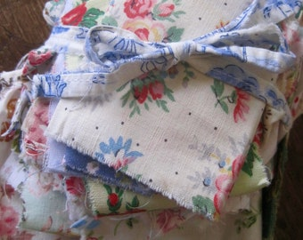 Random Fabric Pack, 1950s Fabrics, French Fabric, Quilting Fabric Scraps, French Bundle, Scrap Bundles, Quilting Scraps, Floral Mix, Cottons