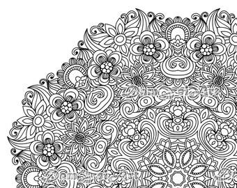 Mandala Coloring Pages Printable Pdf Blank Mandala Designs