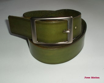 Wide Leather Belt handmade handcrafted