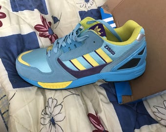 Adidas ZX 8000 , US 9,5 , yELLOW pURPLE torsion vintage  new footwear