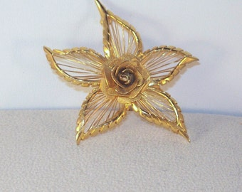 Rose Filigree Brooch