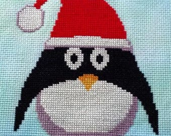 Christmas Presley Penguin Cross Stitch Chart