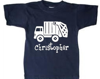 personalized trash truck shirt, Kids Trash Truck tshirt, Garbage truck shirt, Garbage truck tshirt, Garbage truck t-shirt, trash truck tees
