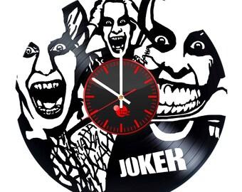 Joker Comics Vinyl Record Wall Clock
