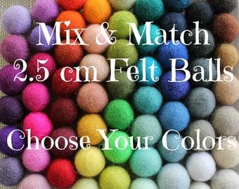Felt Balls, Pom Poms, Felt Ball Garland, Wool Felt Balls, Felted Balls, Loose Felt Balls, Felt Ball Garland DIY, Handmade Felt Balls