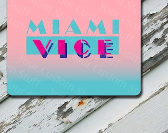 Mousepad Miami Vice Design on Extra Thick Mousepad