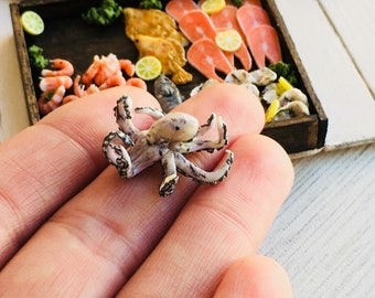 Seafood for dolls. Octopus. Size 1/12 and 1/6