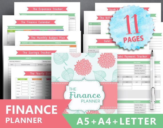 printable financial planner