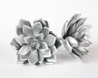 Faux Succulent: Large Artificial Echeveria Succulent in Silver - Fake Succulent - artificial succulents - ITEM 01140