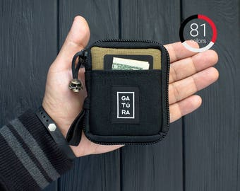 Tactical front pocket wallet - Front pocket travel wallet from Cordura. For keys, knifes, tools. 81 colors for this wallet with front pocket