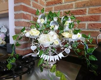 Rose and Ivy Wedding Centre Piece Candelabra