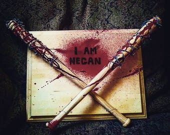 """I AM NEGAN 18"""" Lucille wall mount  The Walking Dead Bloody"""