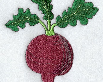 Red Beet Embroidered Flour Sack Hand/Dish Towel