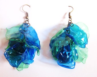 recycled plastic bottles earrings