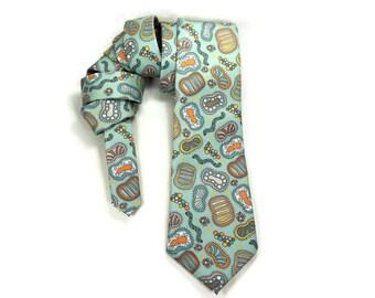 Microorganism necktie, science tie, microbiology tie, biology accessory, cilia, bacteria necktie, teacher gift, germs