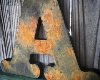 Rustic Letters-Home Decor-Standing Letters-Freestanding Letters-Family Letter-Letter Decor-Rustic Decor-Wood Letters-Boys Room Decor