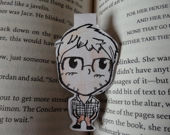 older nerd magnetic bookmark