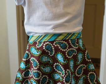 Brown Paisley Skirt