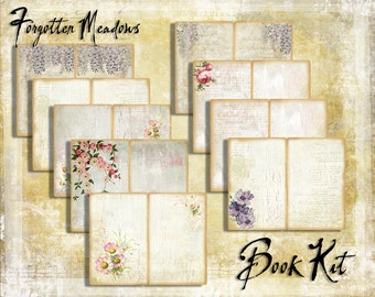 Digital Paper Pack Forgotten Meadows Book Kit downloadable printables