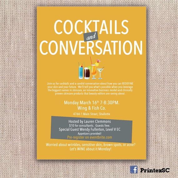 Rodan fields invitations cocktails and conversation like this item stopboris Choice Image