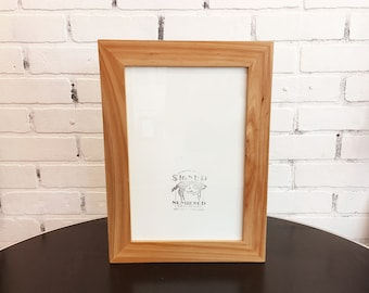 """8x12 Picture Frame in 1.5"""" wide Solid Natural WILLOW Wood Frame - IN STOCK Same Day Shipping - 8 x 12 inch Modern Picture Frame"""
