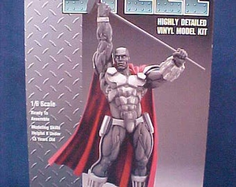 Vintage STEEL Model, DC Comics, Rare, Discontinued, Highly Detailed, Weapons Engineer, Super Hero, Superman, Exo-Skeleton, Kinetic Hammer