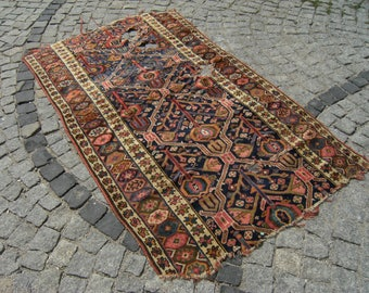 1900's Caucasian Vegetable Dye Collectible Carpet Rug 47,6'' X 78,7''   Inches