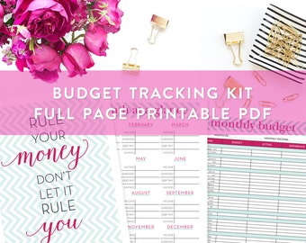 Budget Planner Kit Printable, Budget and Bill Planning Kit, Finances Planner, Bill Pay, Financial, Debt Planner, Budgeting Printables