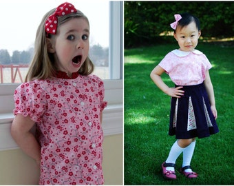 Leila's Everyday Blouse pattern & Tutorial - 9months-8yrs - Girl - By LittleKiwisCloset
