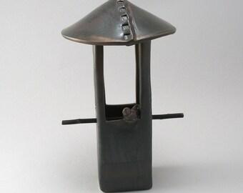 Bird Feeder - Stoneware Bird Feeder - Ceramic Bird Feeder - Garden Art