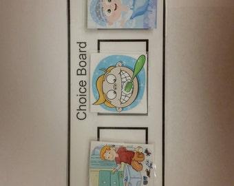Children's visual choice board