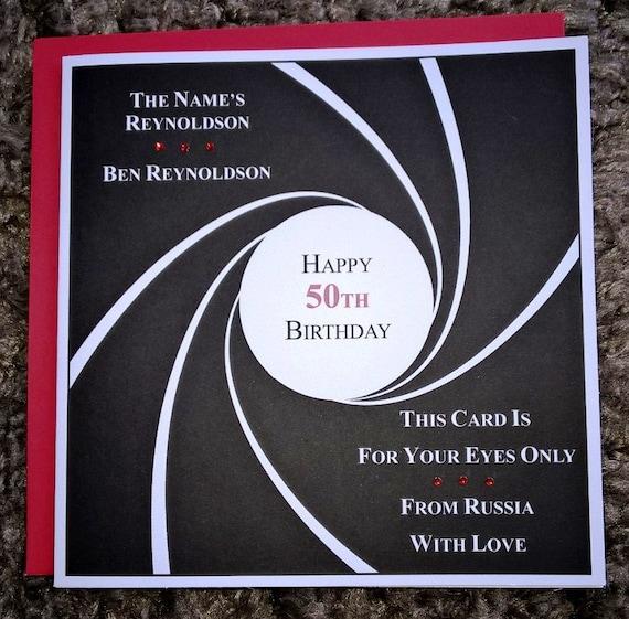 Handmade personalised james bond 007 birthday card any age stopboris Images
