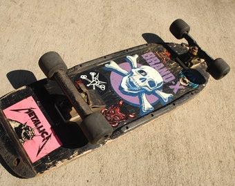 Kickass!!!!!! BRAND X KNUCKLE HEAD skate board. vintage 1980s.