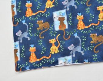 Waterproof Cat Food Mat, Pet Crate Mat Blanket Gift, Cats Pattern, Kitten Pet Bed Mat Gift