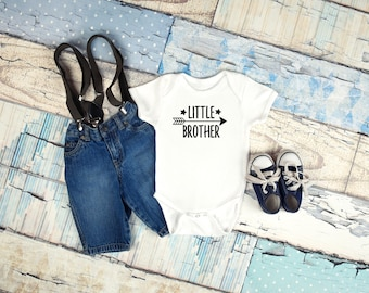 Little brother graphic baby clothing for newborn, 6 months, 12 months, and 18 months kids graphic shirt, baby boy clothing