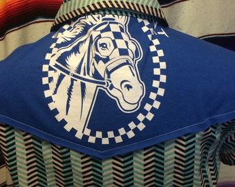 Large, Secretariat tshirt womens western shirt