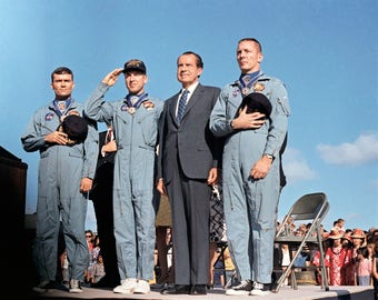 Apollo 13 Crew Receives Presidential Medal of Freedom from president Nixon