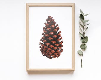 Pinecone Printable Extra Large Wall Art| Christmas Decor| Minimalist Poster| Scandinavian Print| Winter Decor| Fall Decor| Woodland Decor