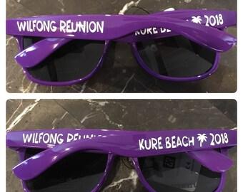 Custom Personalized Sunglasses - LOTS of COLOR Options - FUN fonts