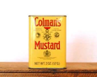Vintage Yellow Coleman's Mustard Tin