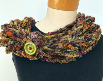 rope scarf, necklace, neck warmer, wrap, multi scarf, accent,