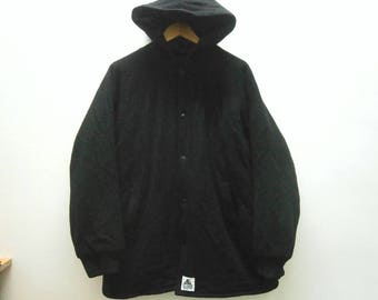 Super rare! Vintage 90s X-LARGE Clothing snap button fleece hoodie jacket size XL