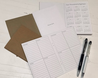 A6 2018 Planner Printed / None Dated