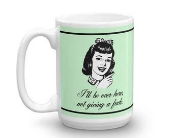 Je vais être ici... Rétro Vintage Art café ou une tasse de thé